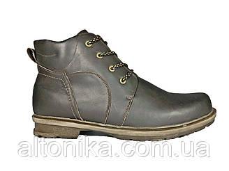 STTOPA зима. Размеры 46-49. Ботинки больших размеров из натуральной кожи. БМ4-4649 Орех Коричневые