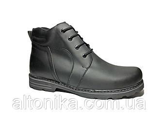 STTOPA зима. Размеры 46-49. Ботинки больших размеров из натуральной кожи. БМ4-4649 Черные