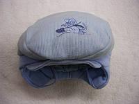 Шапочка-кепка Вязка,трикотаж  р.46,48 Голубая