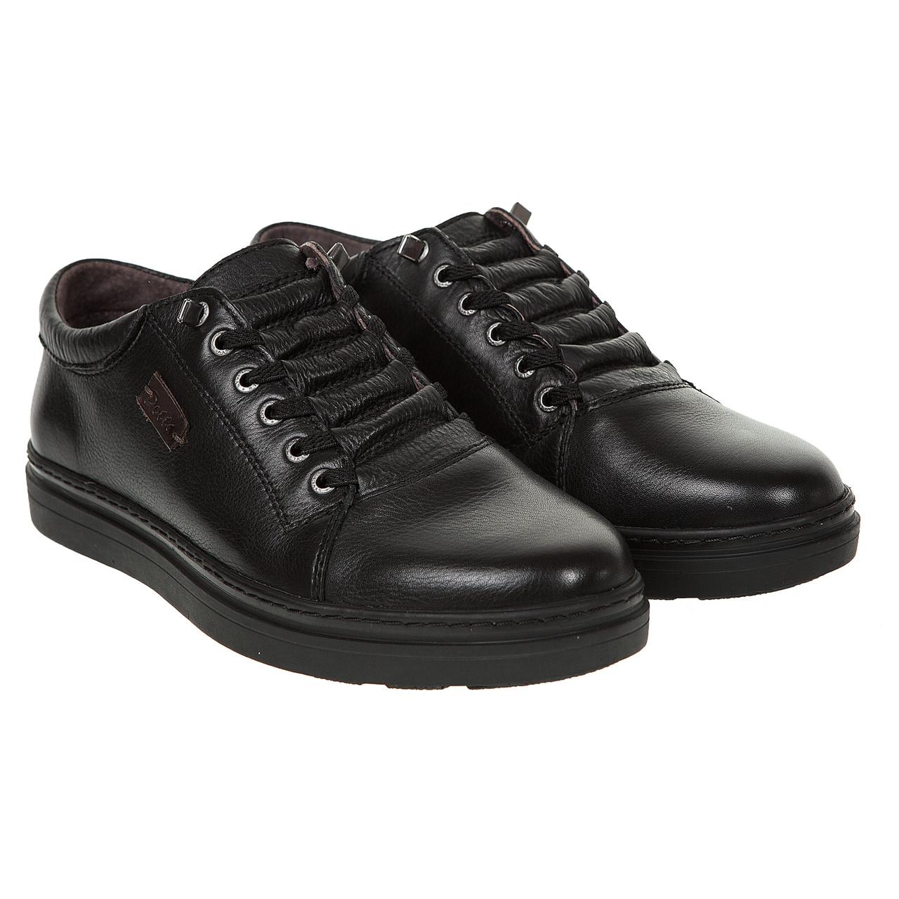 Туфлі чоловічі шкіряні з прихованими шнурівками Detta 43