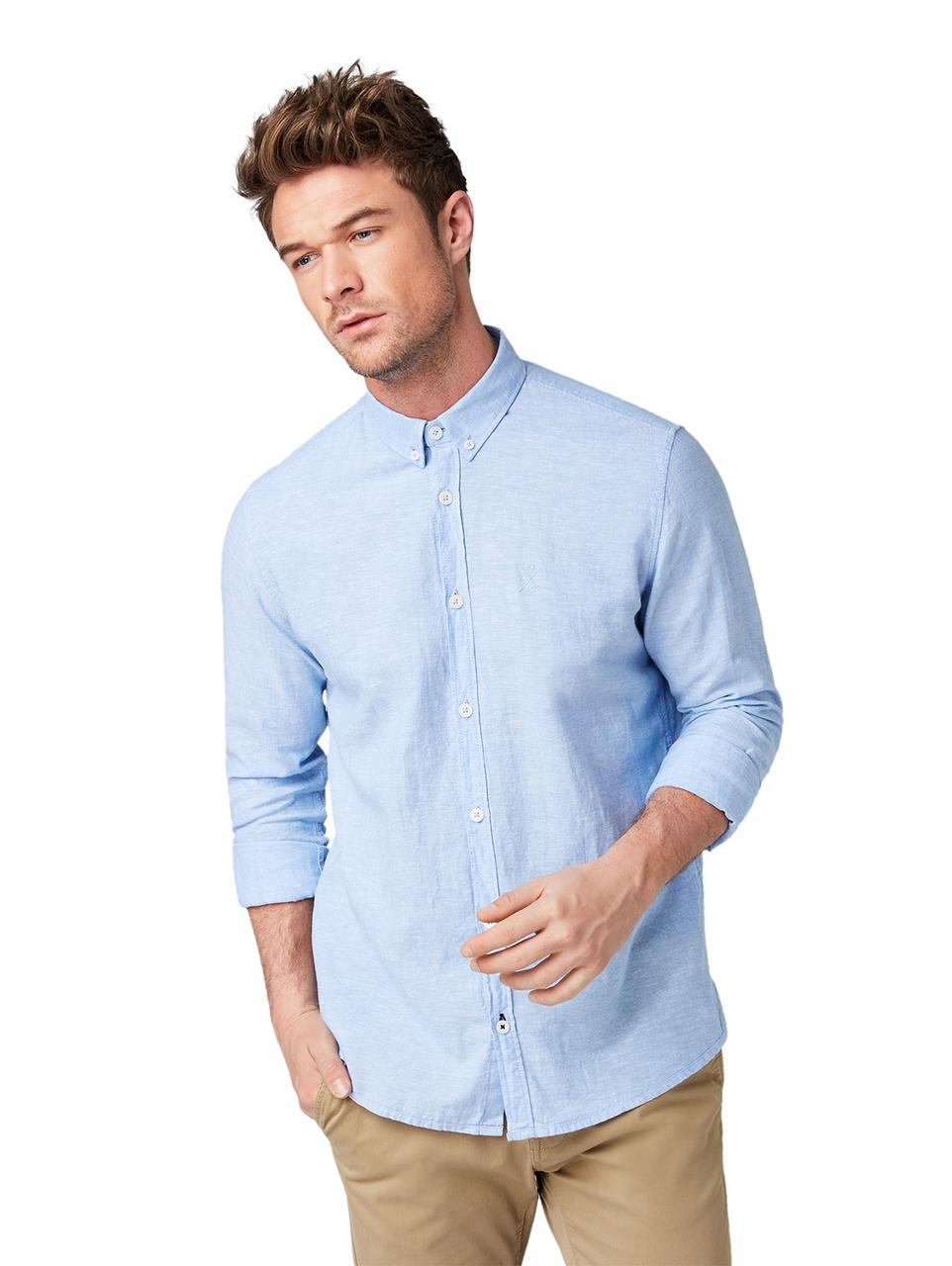 Рубашка Tom Tailor 1008935_11869 L Голубой