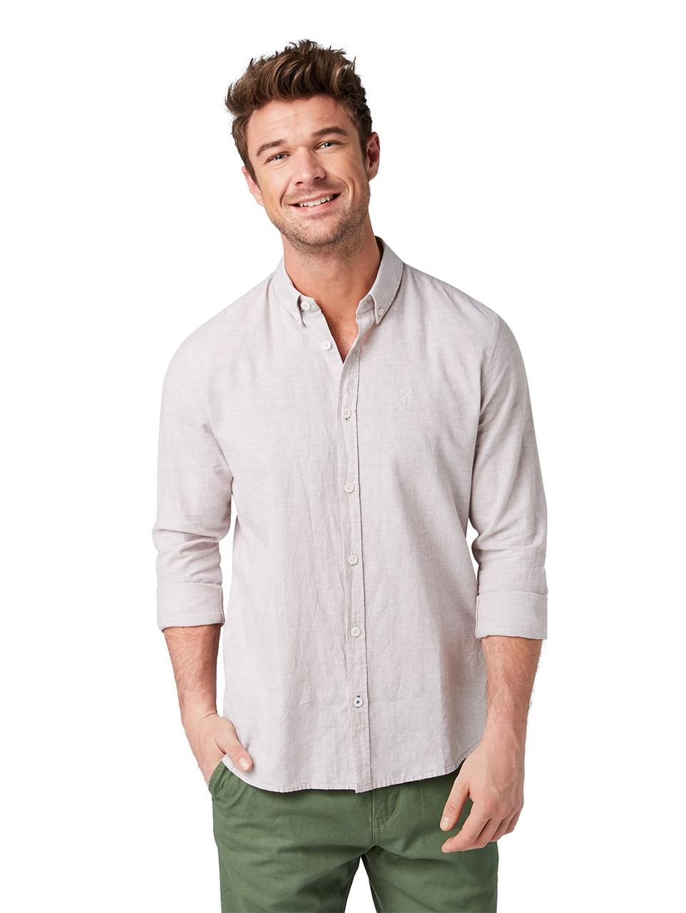 Рубашка Tom Tailor 1008935_16300 M Бежевый