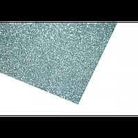 Фоамиран глиттерный на клейкой основе серебро