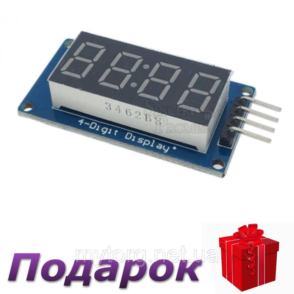 Цифровой светодиодный дисплей модуль TM1637 4 Бит Для Arduino TM1637