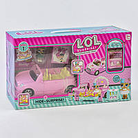 Набор с куклой QL 055-1, автомобиль трансформируется, с аксессуарами, 2 куклы в наборе