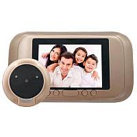 """Видеоглазок дверной цифровой для квартиры Kivos SG35 с 3.5"""" экраном, и фото/видео записью, фото 1"""