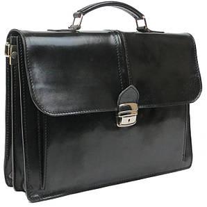 Мужской портфель из натуральной кожи TOMSKOR Черный (81579)