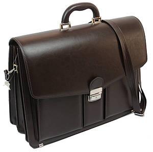 Мужской портфель из кожзаменителя AMO Коричневый (SST03 brown)