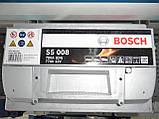 Автомобильный, аккумулятор, BOSCH 0092S50080 77Ah-+, 12V Bosch S50080 Silver, 278х175х190, 780А,АКБ., фото 2