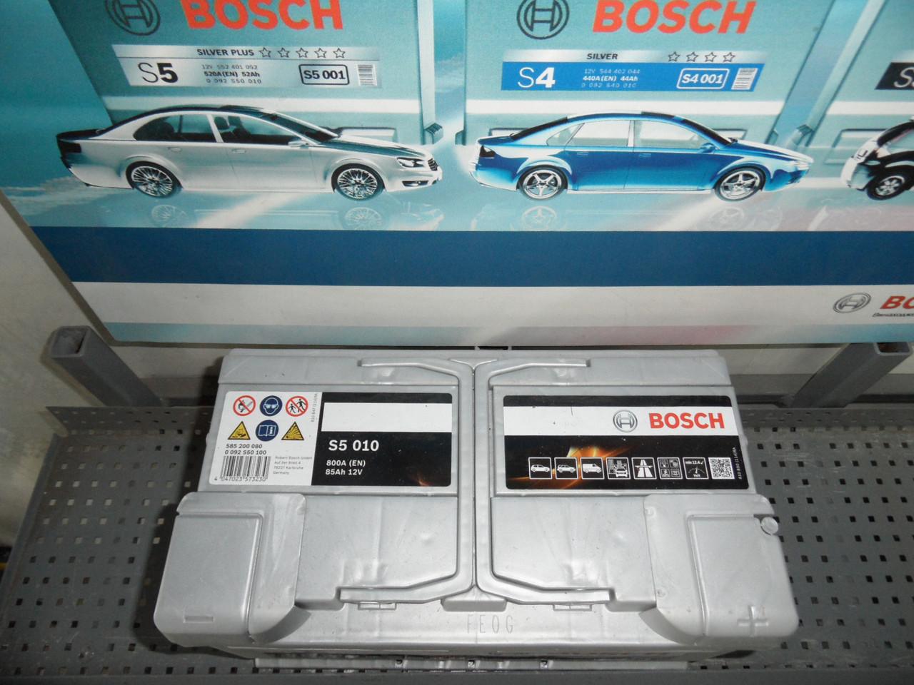Аккумулятор BOSCH 0092S50100 85 A/h -/+, S5,