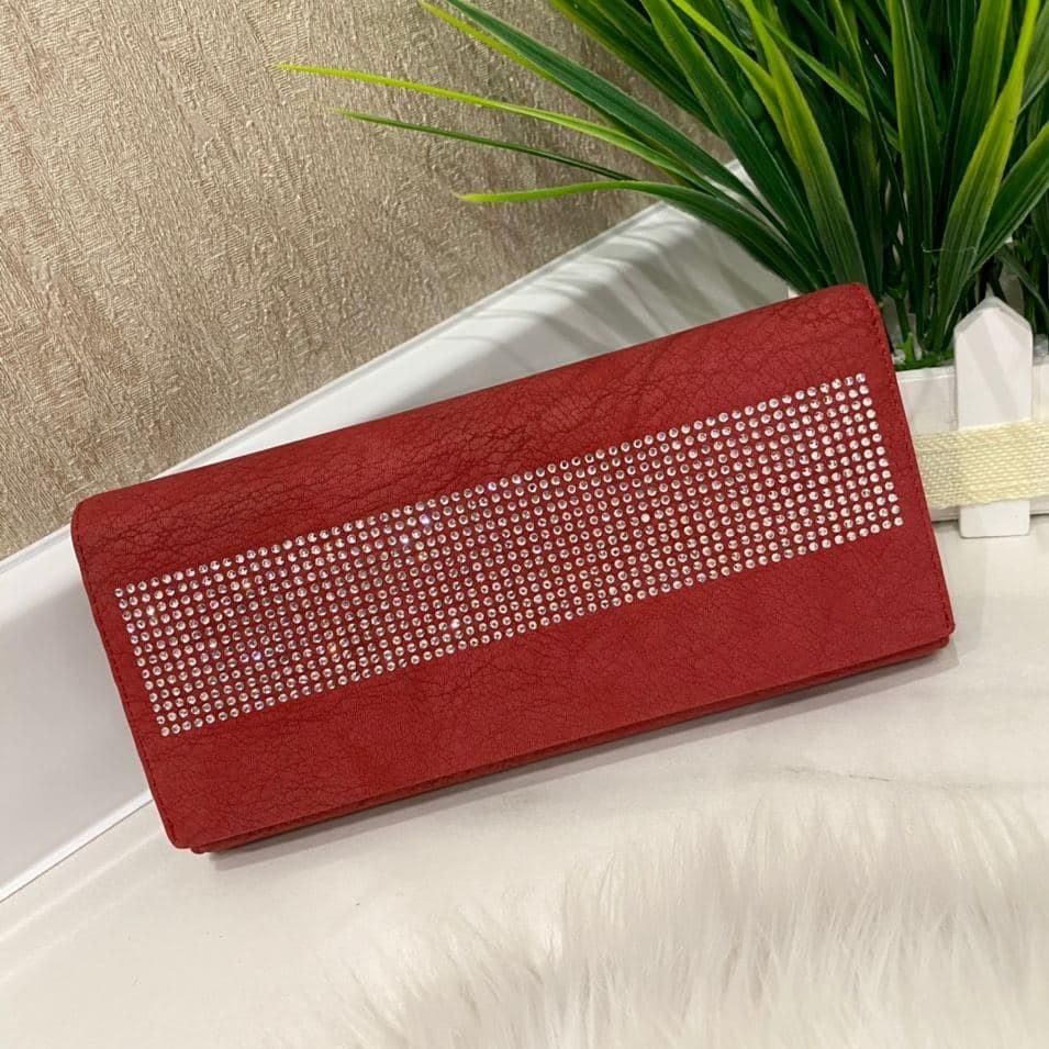 Женский кошелек на магнитах Brill красный КБ321