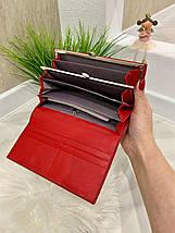 Жіночий гаманець на магнітах Brill червоний КБ321, фото 2