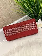 Женский кошелек на магнитах Brill красный КБ321, фото 3