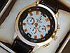 Мужские кварцевые наручные часы Hublot на кожаном ремешке