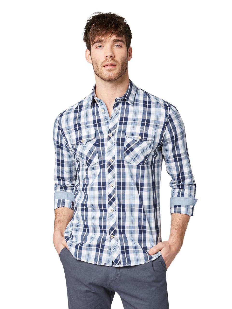 Рубашка Tom Tailor 1009448_16893 L Синий