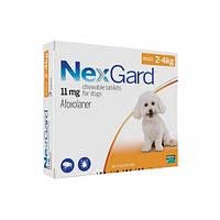 Таблетки Boehringer Ingelheim NexGard от блох и клещей для собак S, 2-4 кг, 1 таблетка