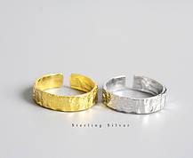 Серебряное Кольцо Женское City-A Кольцо из Серебра 925 Позолоченное Регулируемое Безразмерное №3002, фото 3