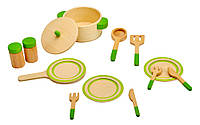 4100075 Посуда деревянная (13эл.)