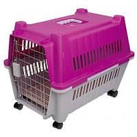 Переноска AnimAll P 782 для кішок і собак, фіолетово-біла, 80×57×66 см