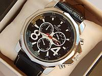 Мужские кварцевые наручные часы Hublot на кожаном ремешке, фото 1
