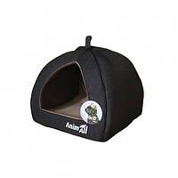 Домик, AnimAll Piter S, для собак, серый, 38×38×29 см