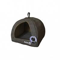 Будиночок, AnimAll Darling M, для собак, сірий, 41×41×32 см