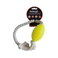 Іграшка AnimAll Fun граната з канатом, жовта, 8 см