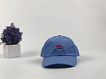 Кепка Бейсболка Мужская Женская The Hundreds Rose с Розой Голубая, фото 2
