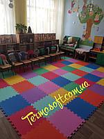 Коврик-пазл 50*50*1см. Напольный коврик - пазл для игровых детских комнат в детском саду.