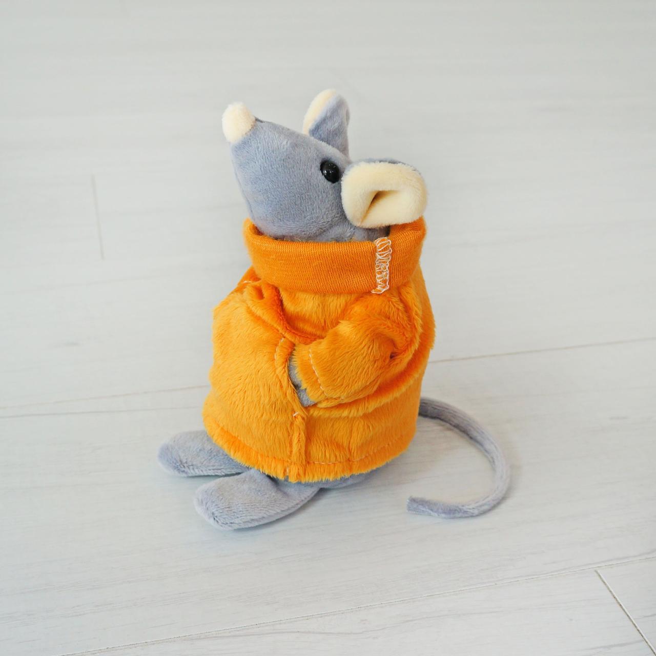 М'яка іграшка Kronos Toys Мишеня Сниффи 15 см Сірий з оранжевим (zol_175)