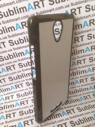 Чехол для 2D сублимации пластиковый на Xiaomi Redmi Note 2 черный, фото 2
