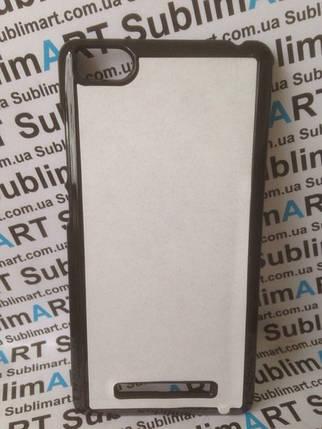 Чехол для 2D сублимации пластиковый на Xiaomi MI 4i черный, фото 2