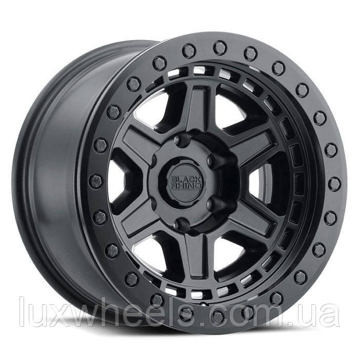 BLACK RHINO Reno Beadlock MATTE BLACK WITH BLACK BOLTS
