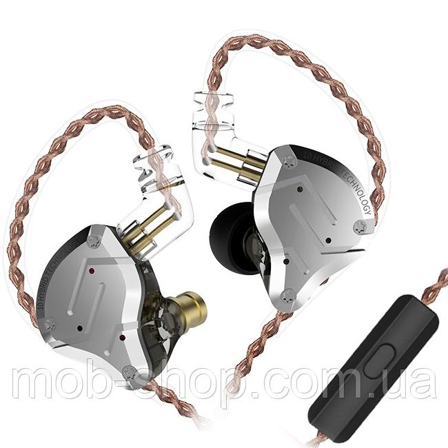 Наушники KZ ZS10 Pro с микрофоном black