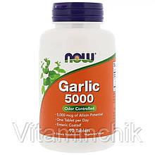 Чеснок 5000мг, Now Foods, Garlic 5000, 90 таблеток