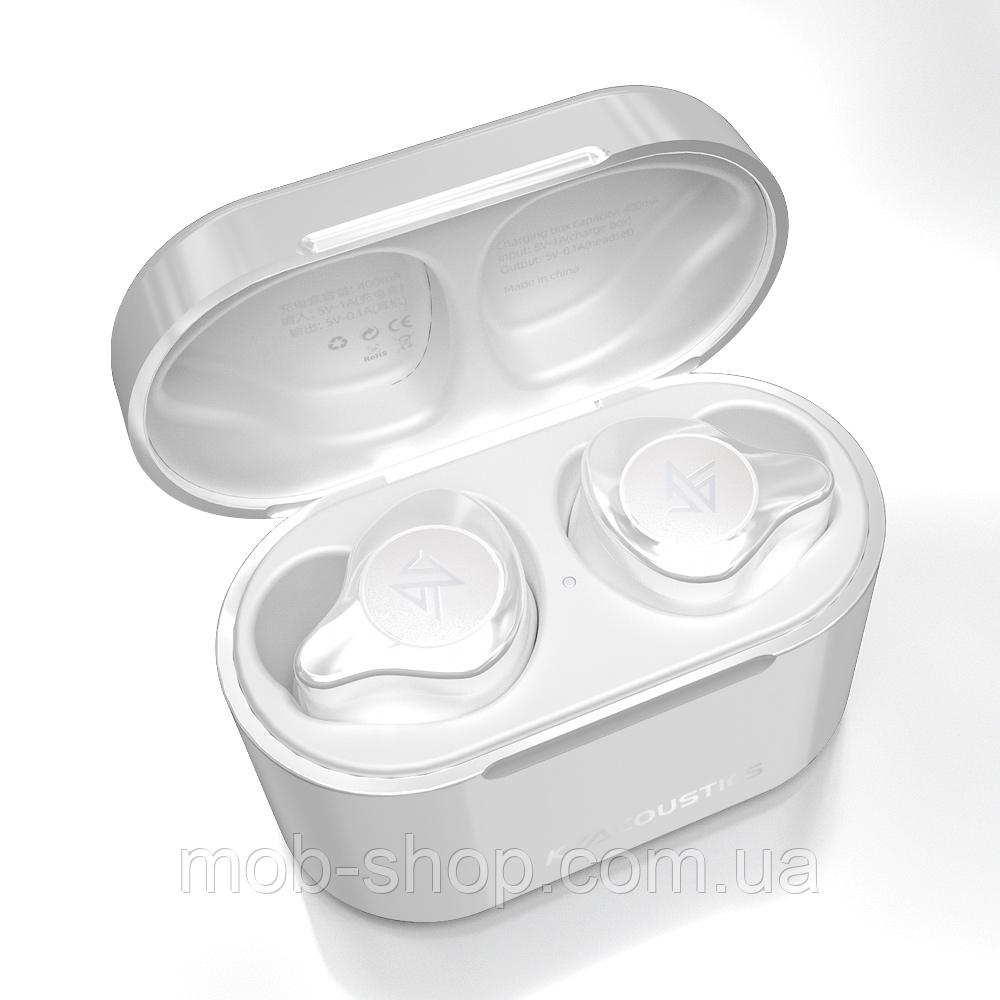 Бездротові навушники KZ S2 TWS white Bluetooth навушники з блютузом