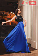 Платье длинное женское с пайетками - Синий