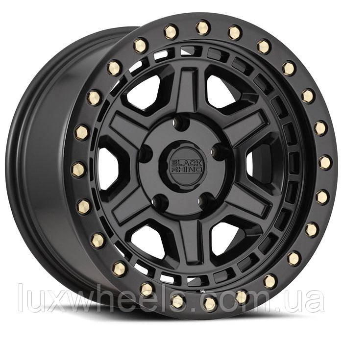 BLACK RHINO Reno MATTE BLACK W/ BRASS BOLTS