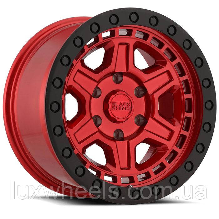 BLACK RHINO Reno CANDY RED W/ BLACK LIP EDGE & BLACK BOLTS