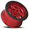 BLACK RHINO Reno CANDY RED W/ BLACK LIP EDGE & BLACK BOLTS, фото 3