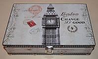 "Большая красивая шкатулка из дерева ""London"" (33х24х10,5 см.)"
