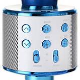 Беспроводной микрофон для караоке WS-858 WSTER BLACK. Цвет: голубой, фото 3