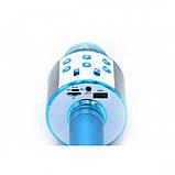 Беспроводной микрофон для караоке WS-858 WSTER BLACK. Цвет: голубой, фото 4