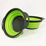 Дуршлаг складной COLLAPSIBLE FILTER BASKETS (силиконовый). Цвет: зеленый, фото 6