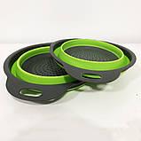 Дуршлаг складной COLLAPSIBLE FILTER BASKETS (силиконовый). Цвет: зеленый, фото 9