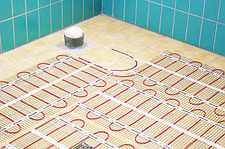 Монтаж нагрівального мата теплої підлоги