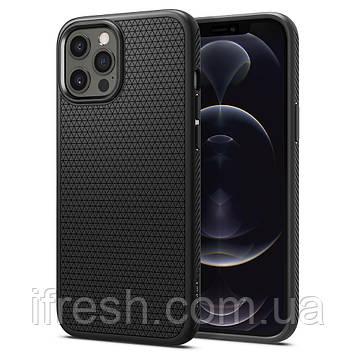 Чехол Spigen для iPhone 12 Pro Max - Liquid Air, Matte Black (ACS01617)