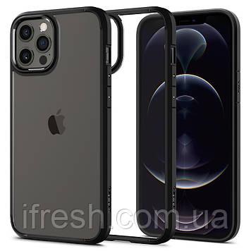 Чехол Spigen для iPhone 12 Pro Max Ultra Hybrid, Matte Black (ACS01619)