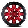 BLACK RHINO Rift Beadlock CANDY RED W/ BLACK RING & BLACK BOLTS, фото 2