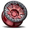 BLACK RHINO Rift Beadlock CANDY RED W/ BLACK RING & BLACK BOLTS, фото 3